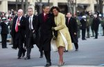 Obamas Glib in 2009 Inaugural Walk